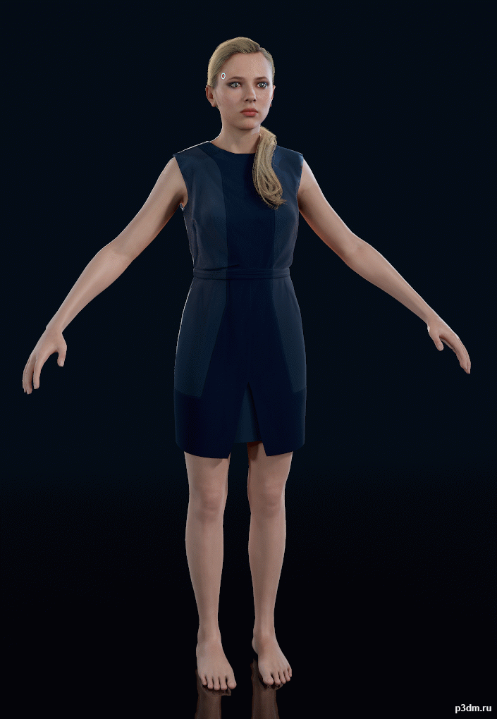 Detroit Human Chloe (With Kamski) » Pack 3D
