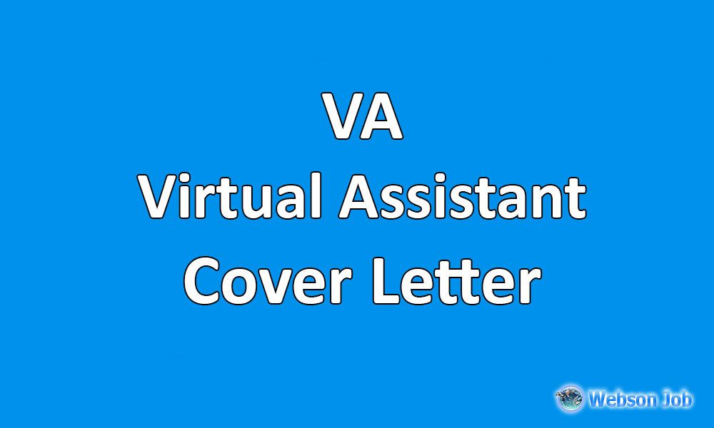 Virtual Assistant Cover Letter Best Sample For Va Virtual Assistant Lettering Writing A Cover Letter