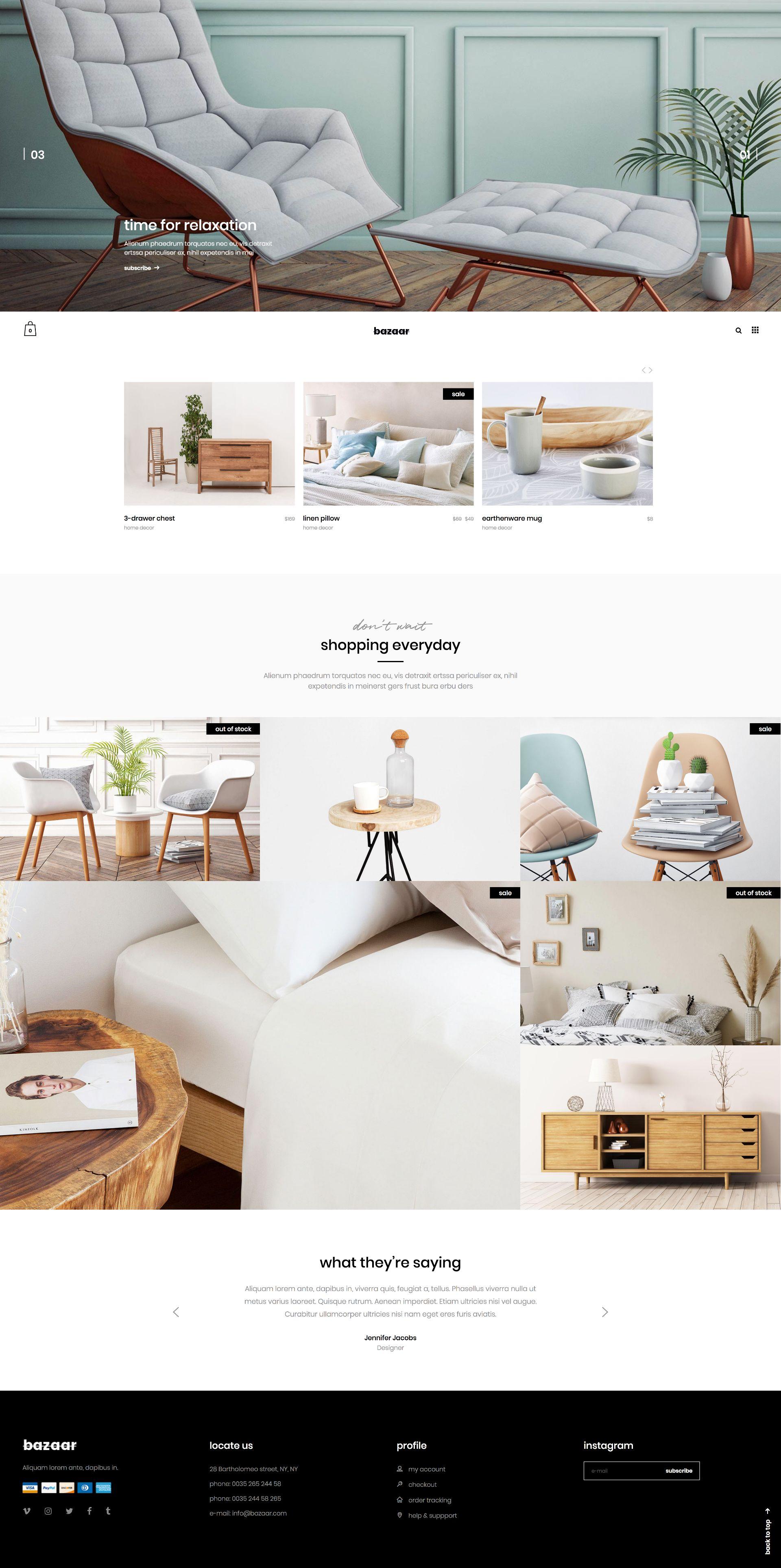 Bazaar Ecommerce Theme Best Interior Design Websites Home Decor Shops Best Home Interior Design