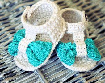 Baby Shoe Pattern Open Toe Knotted Baby Shoe Size by winterpeach