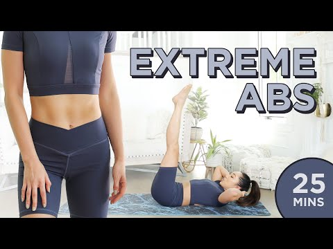 Extreme Abs Workout | 25 Min At Home Upper Abs, Lower Abs, Obliques & Total Core Pilates Routine