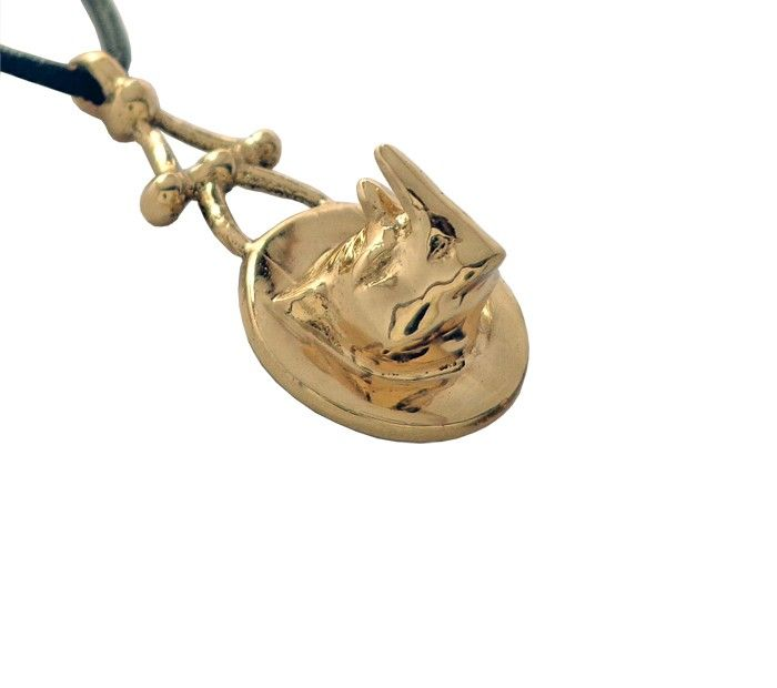 Rhinoceros Wildlife Animal Jewelry Pendant Unique Artisan Designer