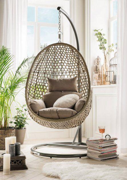 Hangesessel Cocoon De Luxe Polyrattan Alu Inkl Sitz Und
