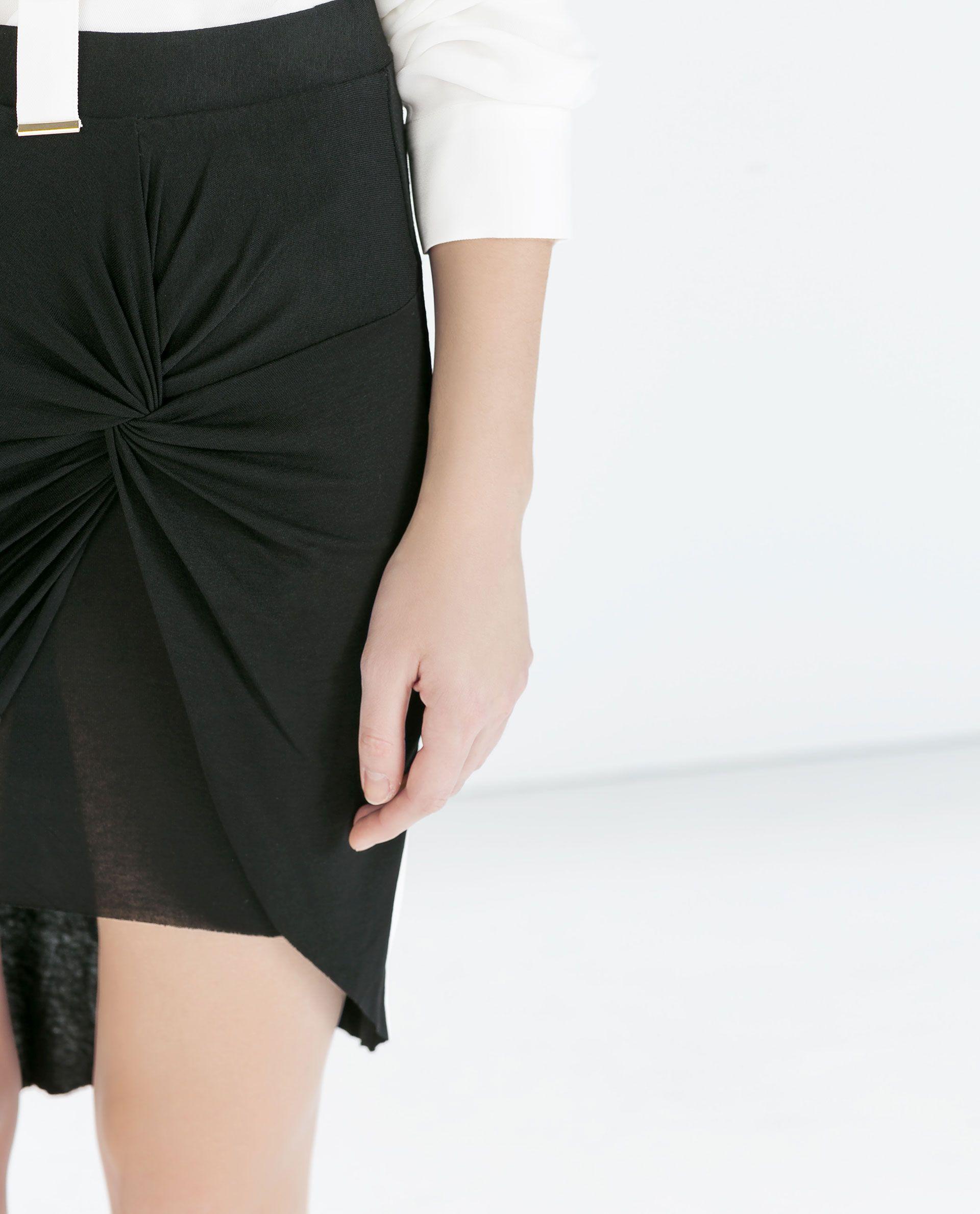 Zara Asimetrica Nudo Falda Corta Mujer Short Zara Faldas RxqrpR6wIt bd86ff9553db