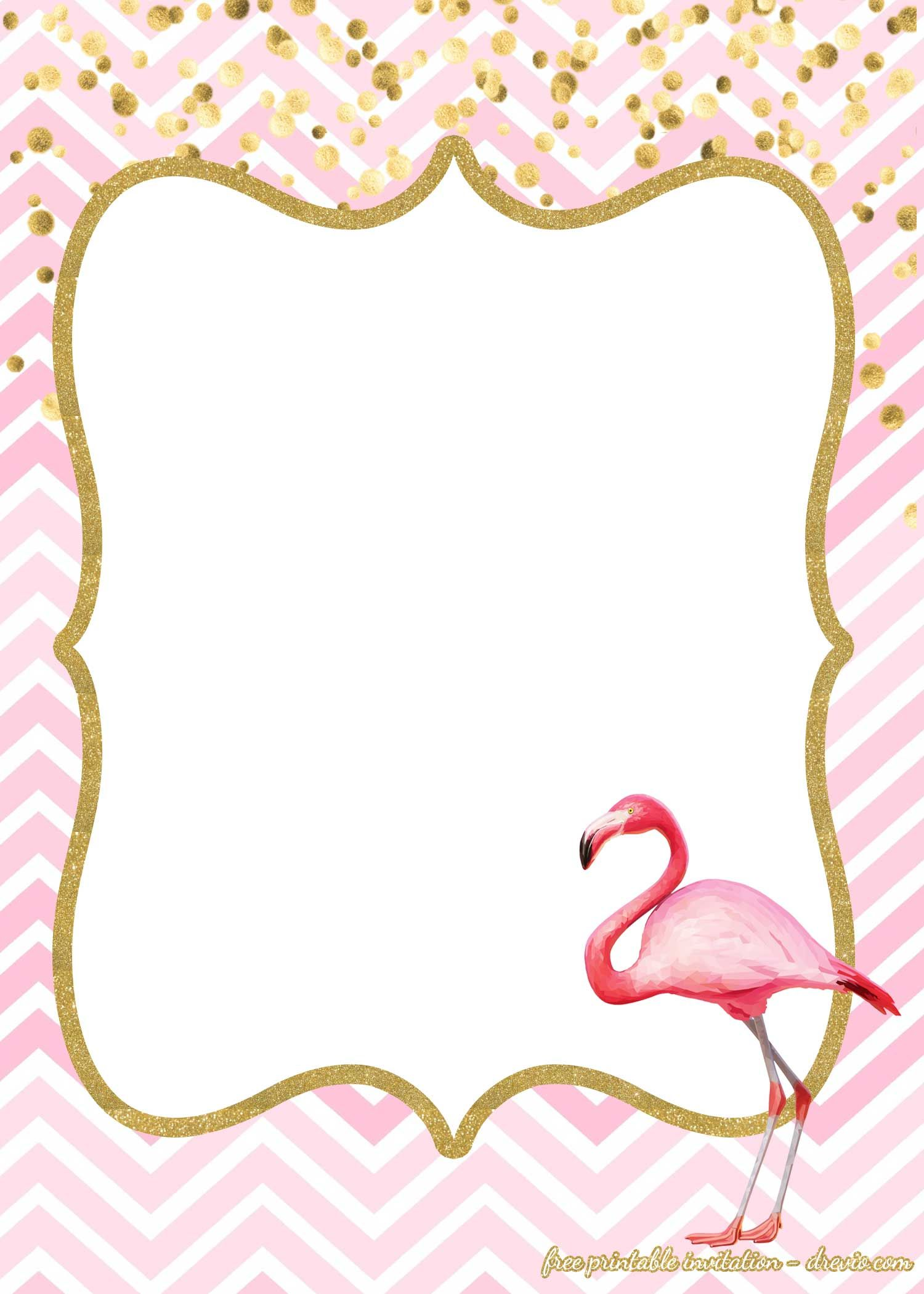 16 Free Flamingo Invitations Templates Downloadable For