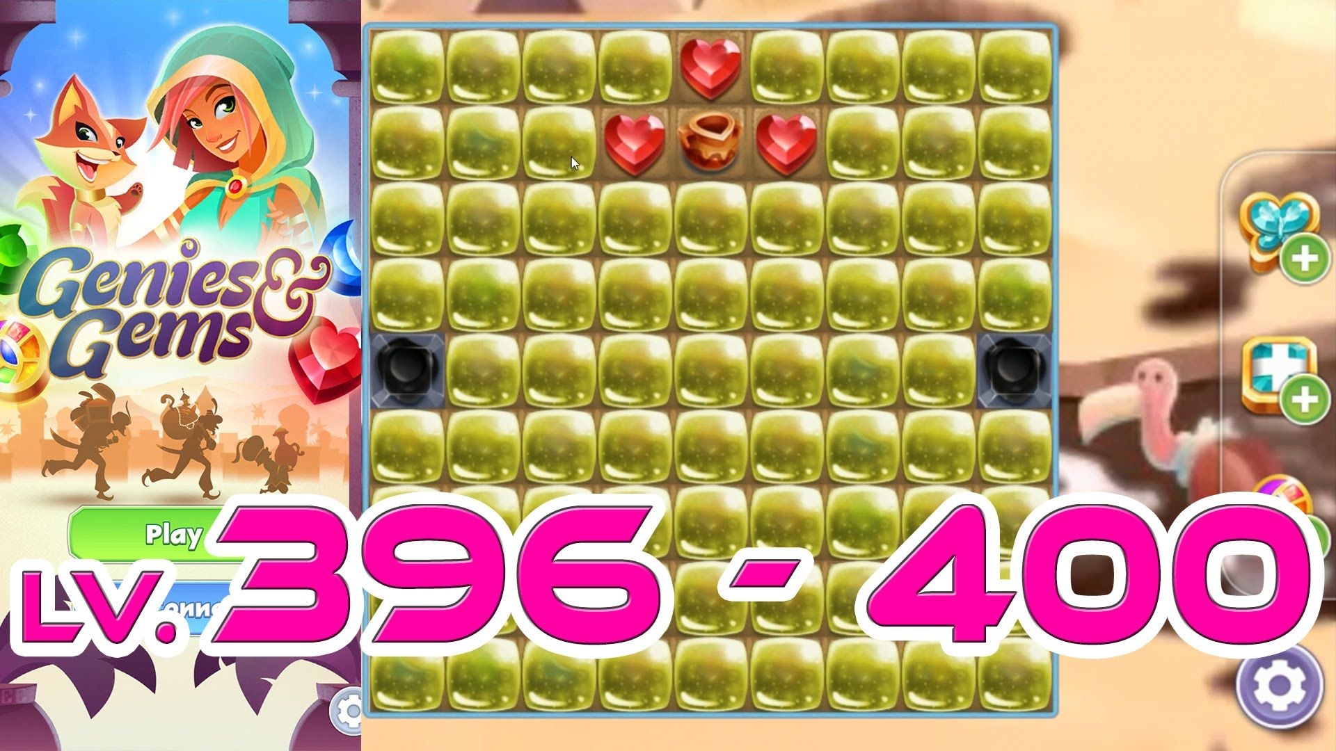 Genies & Gems - Level 396 - 400 (1080p/60fps) | Genies & Gems
