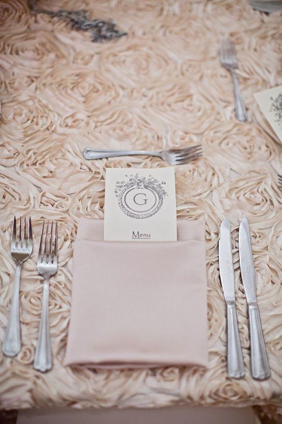 Wedding Details Wedding Table Linens Rosette Tablecloth Wedding Tablecloths
