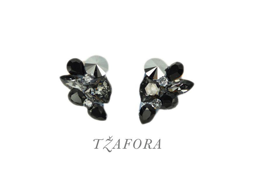 """Funny Friday"" Swarovski ballroom earrings. Ballroom jewelry, ballroom accessories. www.tzafora.com Handmade in Canada. Copyright © 2016 Tzafora"