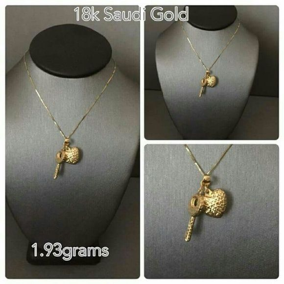 18k Saudi Gold Gold My Face Book Jewelry