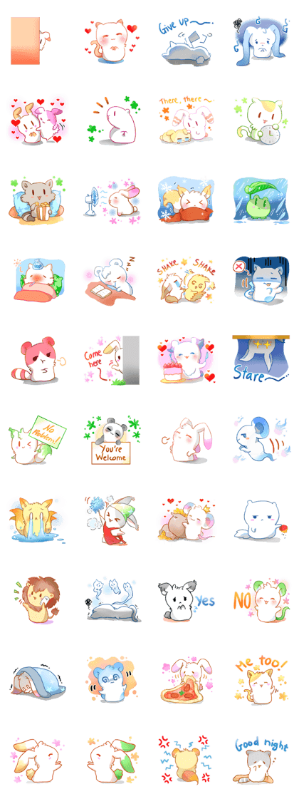 Brighten up your chat rooms with these cute marshmallow animals, now with an even wider range of expressions! #cutemarshmallows Brighten up your chat rooms with these cute marshmallow animals, now with an even wider range of expressions! #cutemarshmallows