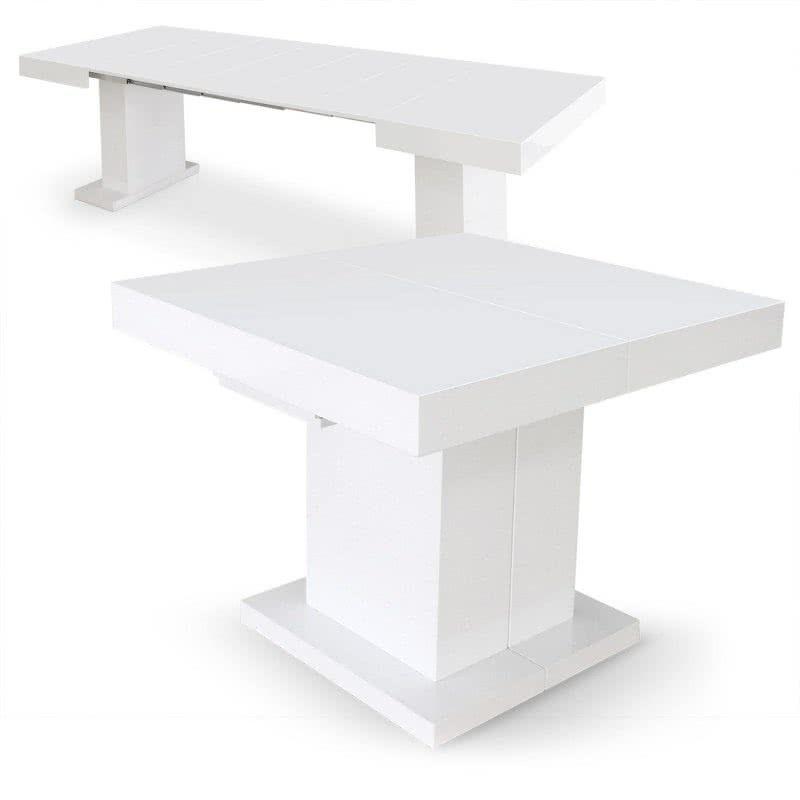 Mesa de comedor extensible Mushrom lacada blanca Ref.: 2397 ...