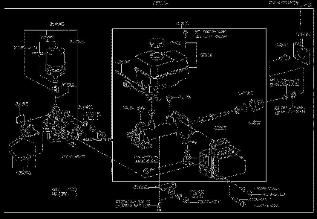 47-02 BRAKE MASTER CYLINDER diagram, 10/2004 TOYOTA