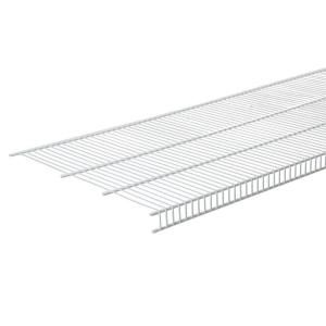 Closetmaid Superslide 72 In W X 12 In D White Ventilated Wire Shelf 4717 The Home Depot Closetmaid Wall Mounted Shelves Wire Shelving
