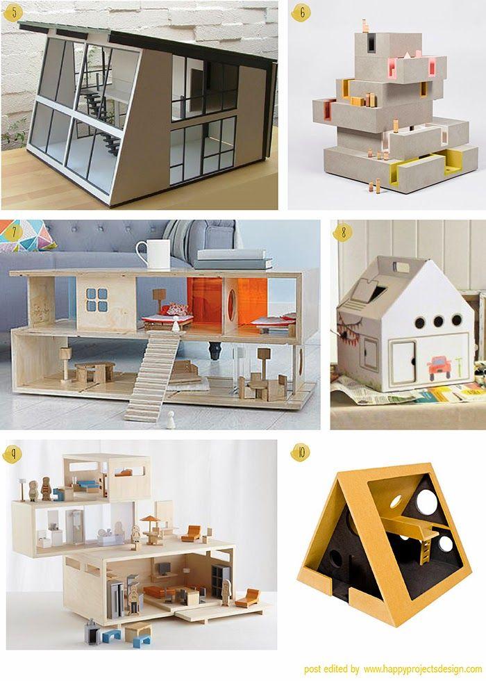 Inspiracion Casitas De Munecas Modernas Doll House Crafts Miniature Houses Mini House