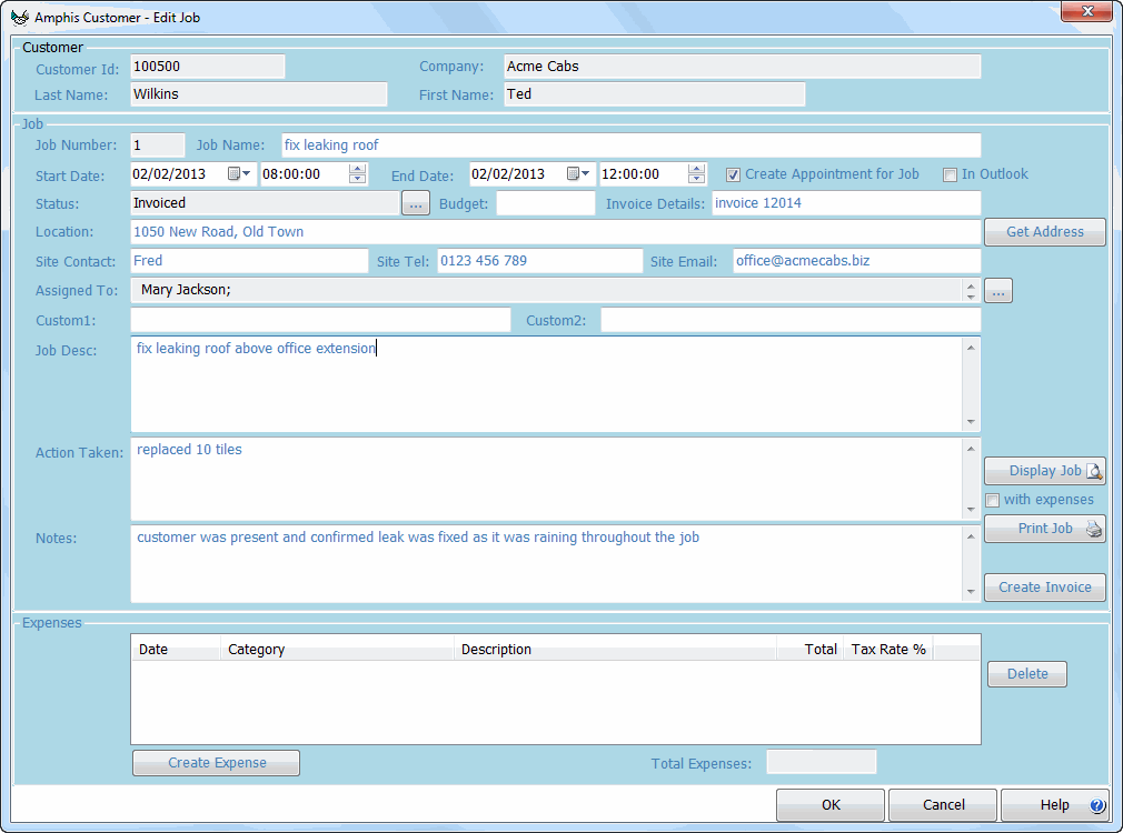 Job Sheet Software  Windows Contacts And Crm    Software