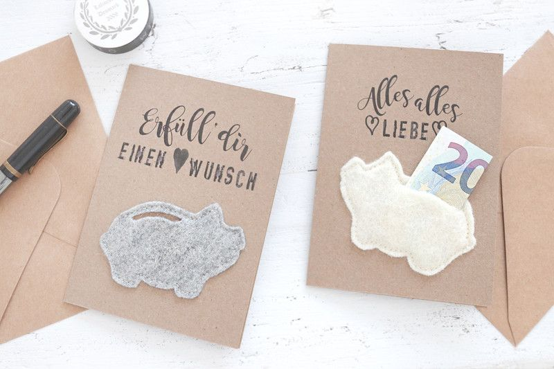 Gutscheine Wunscherfuller Natur Karten Set2 Fur Geldgeschenke