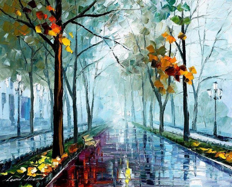 Для елизаветы, картинки рисованные осень дождь
