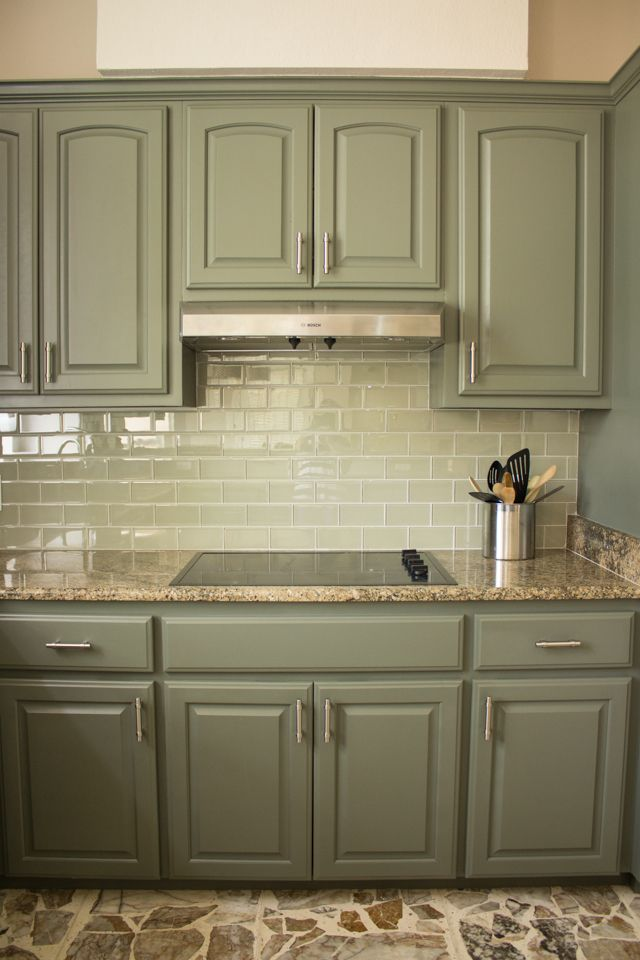 Colour Of Cupboards Thunderous By Sherwin Williams Painted Kitchen Cabinets Colors Green Kitchen Cabinets Kitchen Design