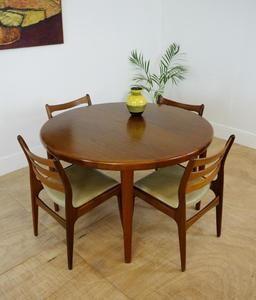 Beautiful Solid Teak Round Danish Extending Dining Table By V V Mobler Spottrup Dining Table Dining Room Table Chairs Extendable Dining Table