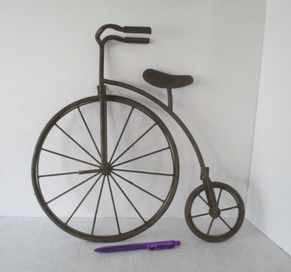 Metal Wall Art Bicycle High Wheel Big Wheel By Hobbithouse On Etsy