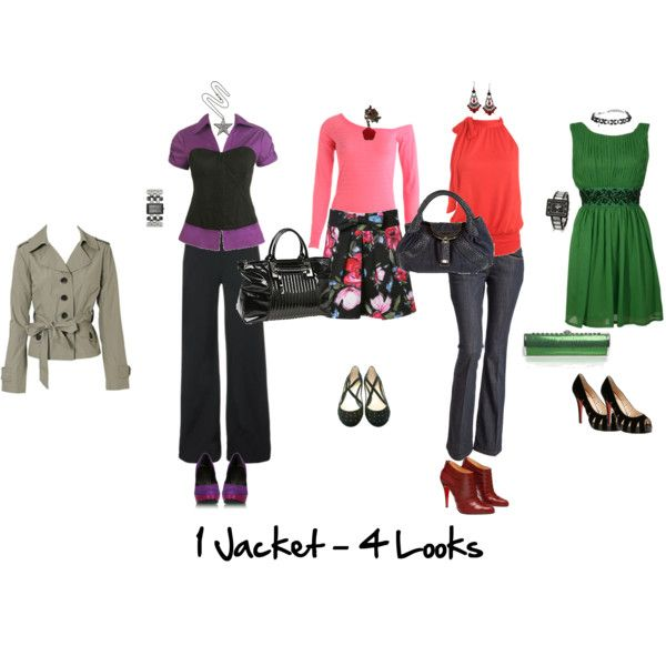 """1 Jacket 4 Looks"" by imogenl on Polyvore"