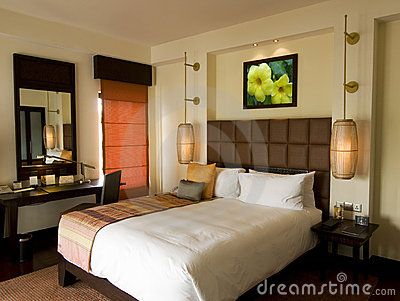 thai style tropical hotel bedroom