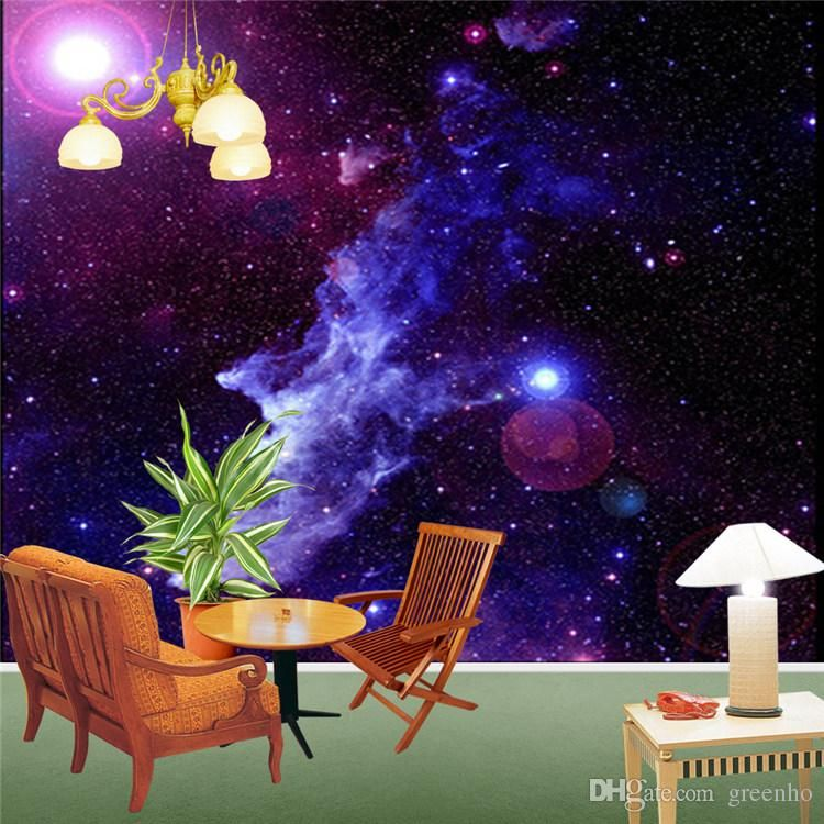 Purple Galaxy Wallpaper Mural Photo Giant Wall Decor Paper Poster Charming Galaxies For Children Living Room Bed Murals New Free Wallpaper In Hd Free Wallpapers Purple Galaxy Wallpaper Mural Wallpaper Galaxy