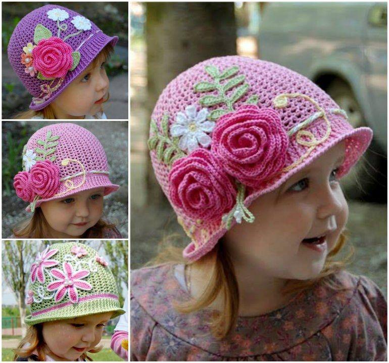 Crochet Cloche Hats The Best Free Collection | Panama, die Kleinen ...