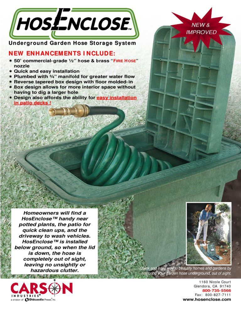 Carson HosEnclose Underground Garden Hose Storage System w Lid