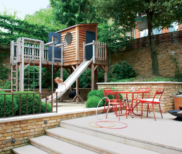 patio and playground