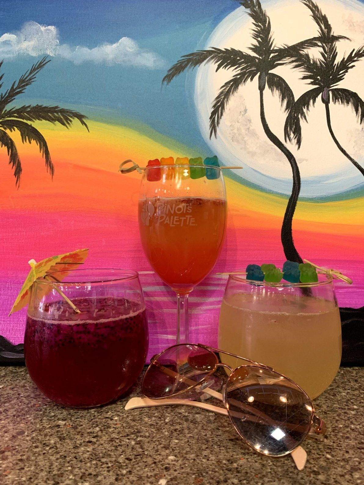 Beach Babe And Pride Drinks Paint Party Paint And Sip Drinks