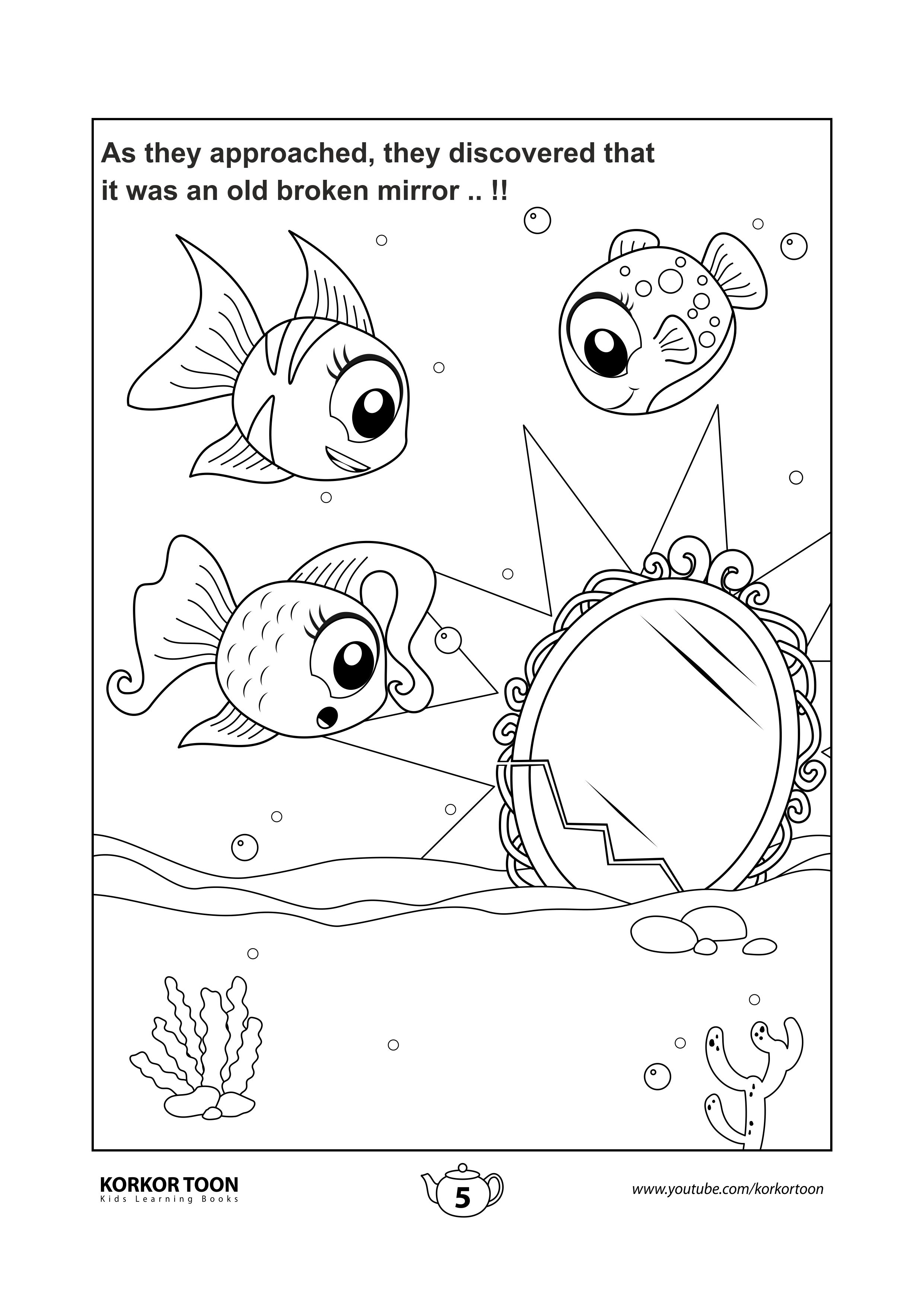 Coloring Page 5 The Special Fish Story Coloring Book Coloring Books Kids Coloring Books Easy Coloring Pages