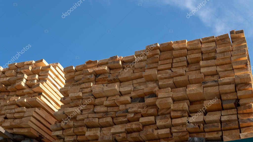 Wooden Boards Lumber Industrial Wood Timber Pine Wood Timber