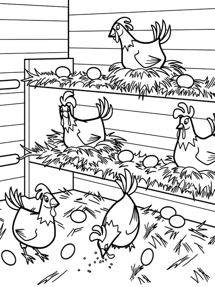 List of Coloring Pages Chicken Coop Pict - Best Pictures
