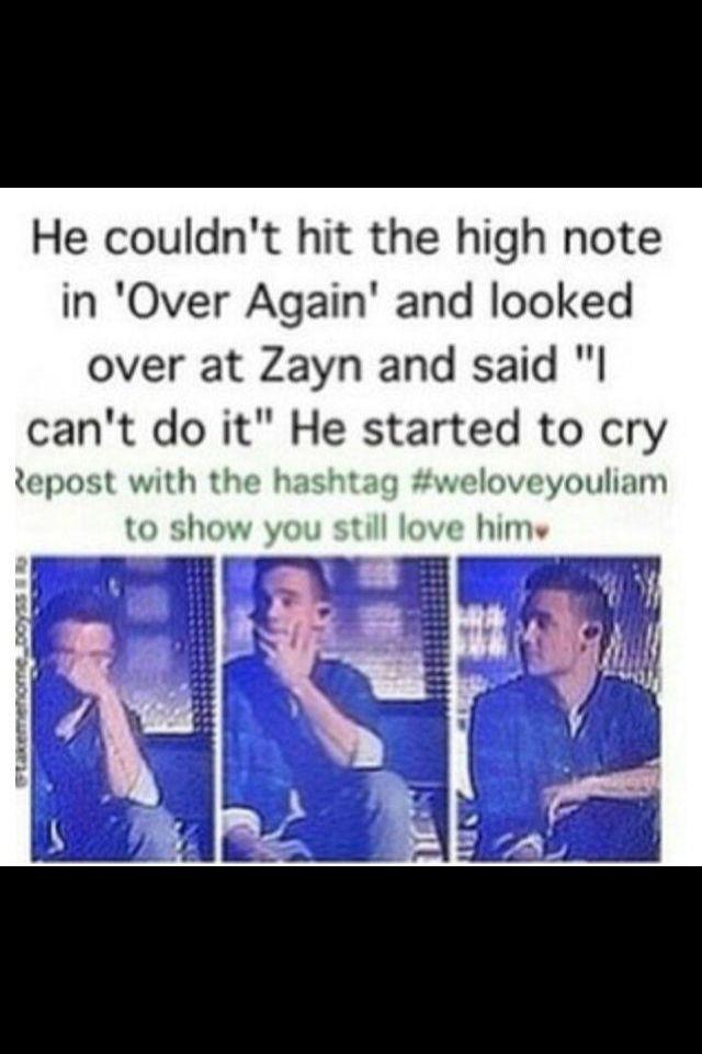 :'( Liam it's okay! When you cry I cry. #liampayne