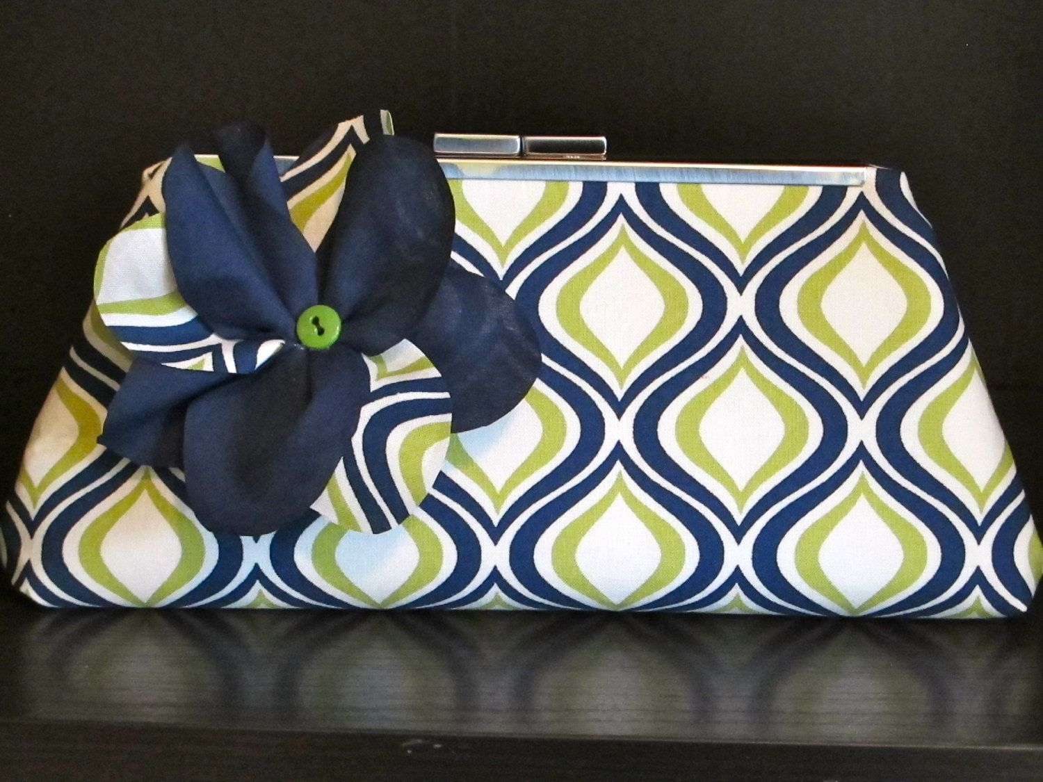 Clutch purse for bridesmaid, prom, or spring. $40.00, via Etsy.