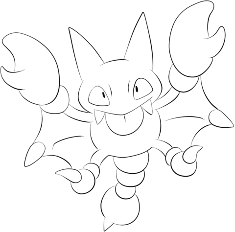 Click To See Printable Version Of Gligar Coloring Page Pokemon Coloring Pages Coloring Pages Free Printable Coloring Pages