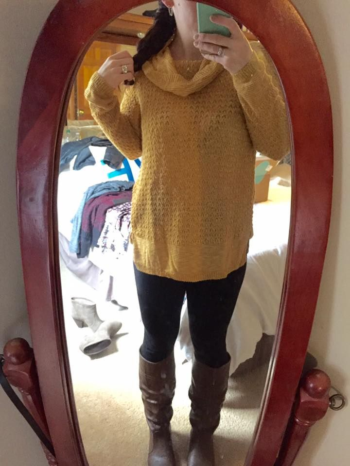 Love the mustard color and style of this Absolutely Danno Cowl ...