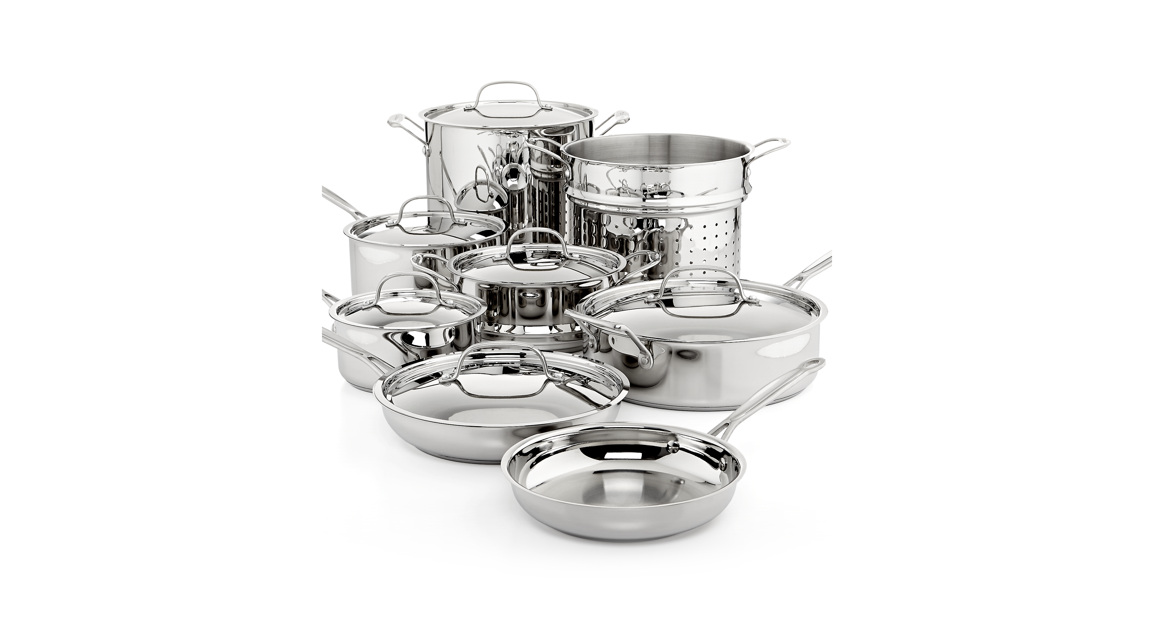 Cuisinart Chef\'s Classic Stainless Steel 14 Piece Cookware ...