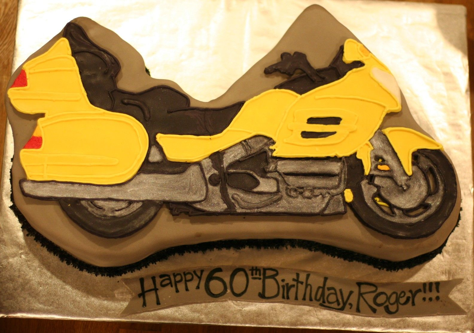 Honda Goldwing Birthday Cake