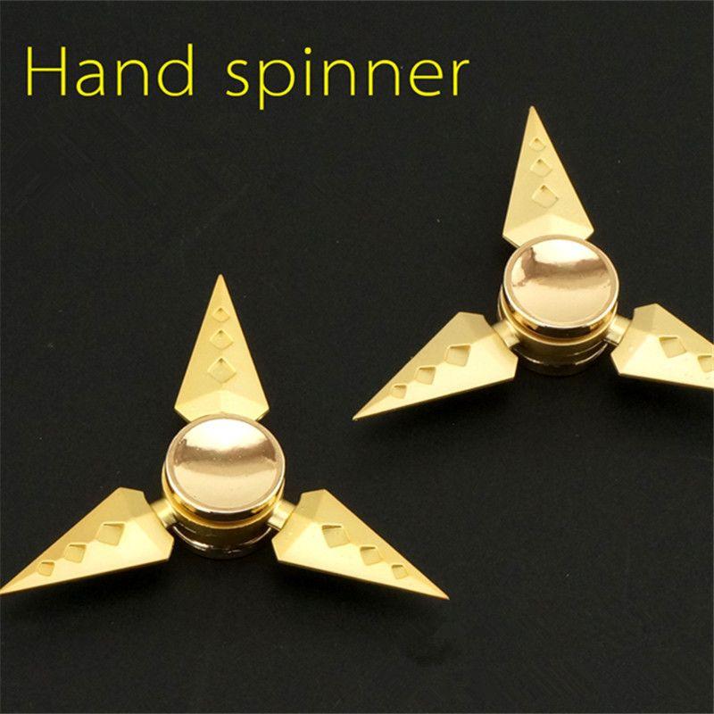 Hand Tri-Spinner Fidget Titanium Focus ADHD Adults Autism