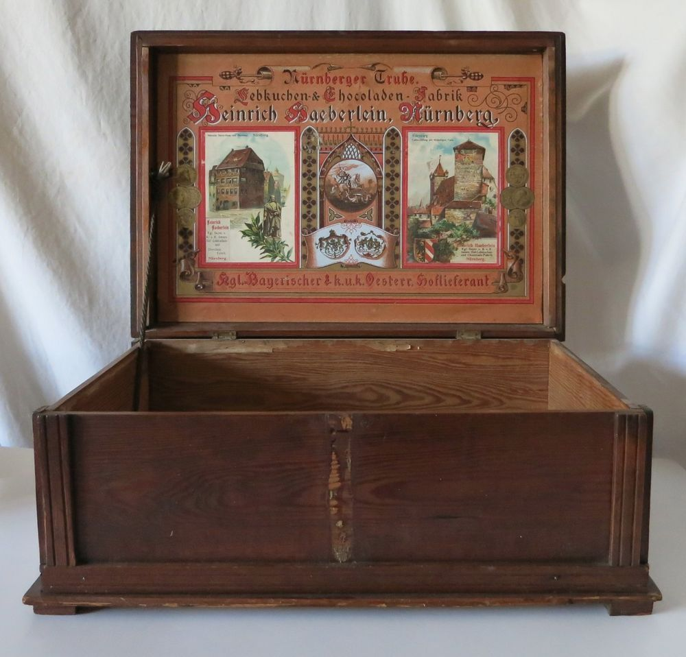 HEINRICH HAEBERLEIN NURNBERG GINGERBREAD & CHOCOLATE FACTORY WOOD DISPLAY BOX | eBay