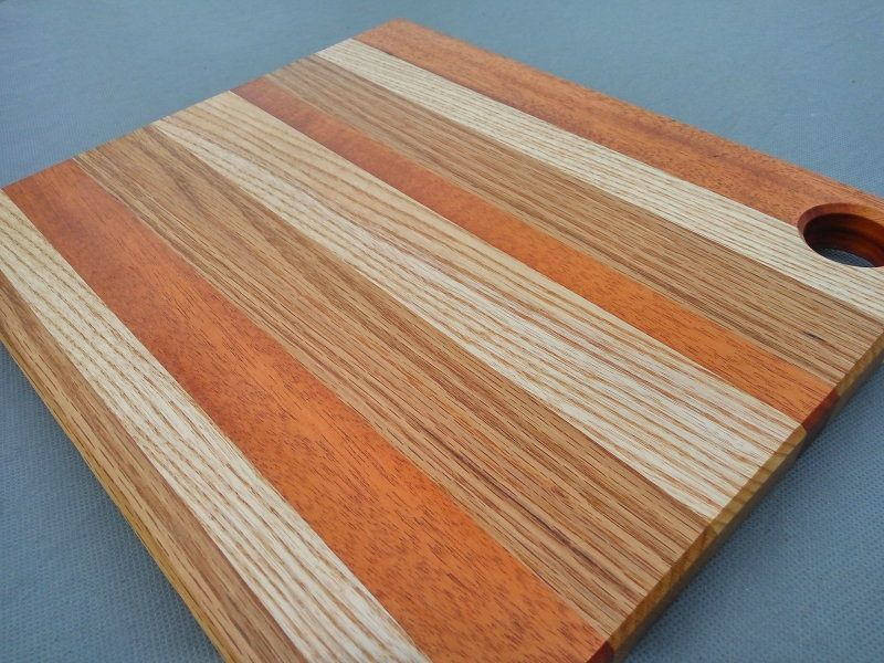 Kitchen Cutting Board Made From Ash Mahogany And Oak Finished With