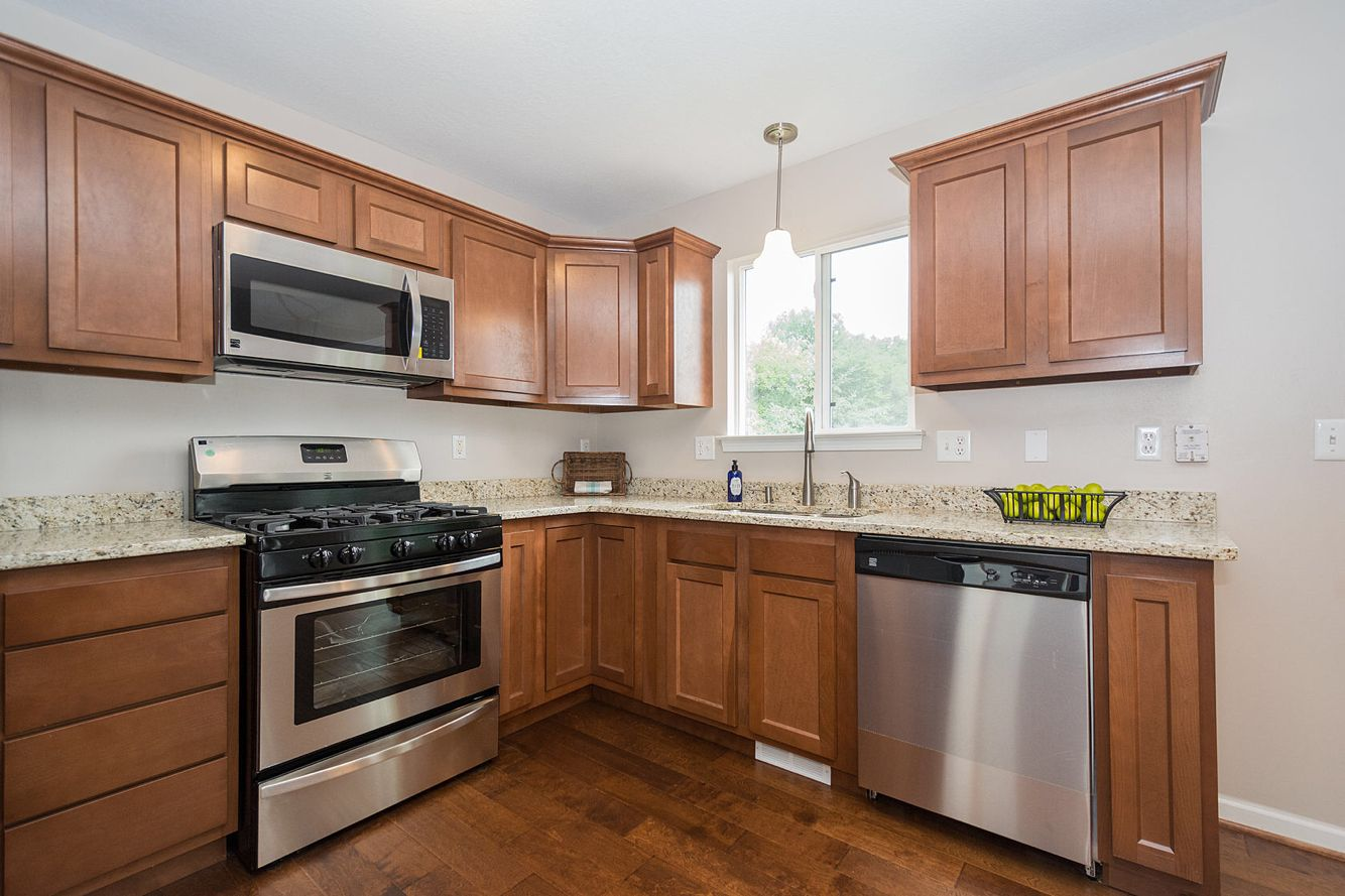 Kitchen Kompact Glenwood Beech | Brown kitchen cabinets ...