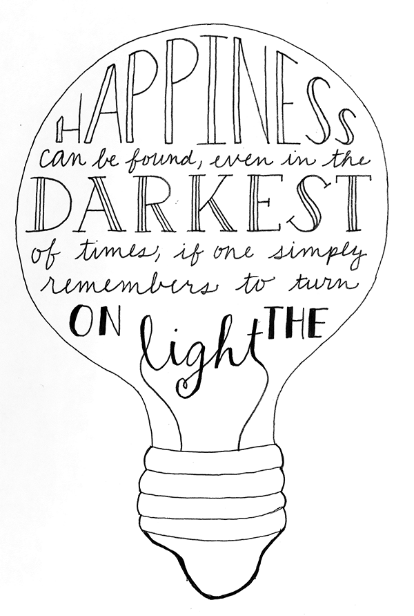 Year Long Hand Lettering Project Dumbledore Quote Thought