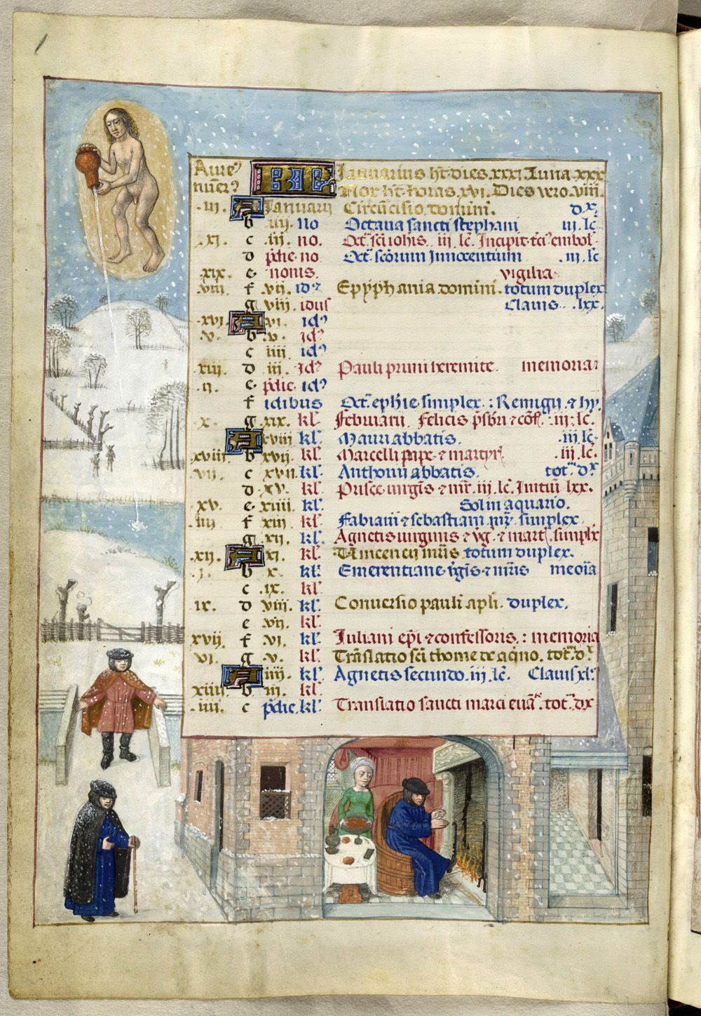 The British Library's 'Isabella Breviary,' created for Queen Isabella of Castile (1451 - 1504).  This manuscript was produced in the late 1480s in Bruges.