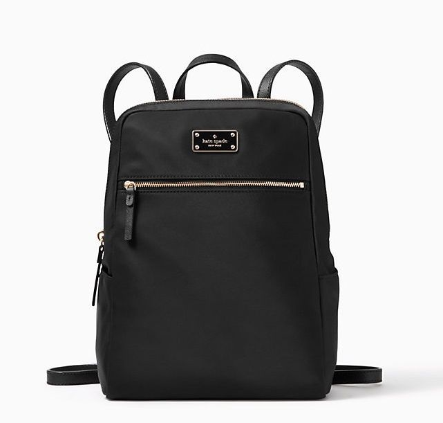 Kate Spade Blake Ave Hilo Medium Backpack Book Bag Nylon PVC Black KateSpade