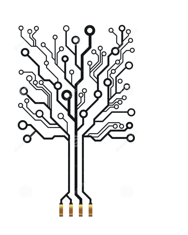 Square Circuit Board Tree