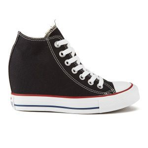 f7275617cde0 Converse Women s Chuck Taylor All Star Lux Hidden Wedge Canvas Trainers -  Black  Image 01