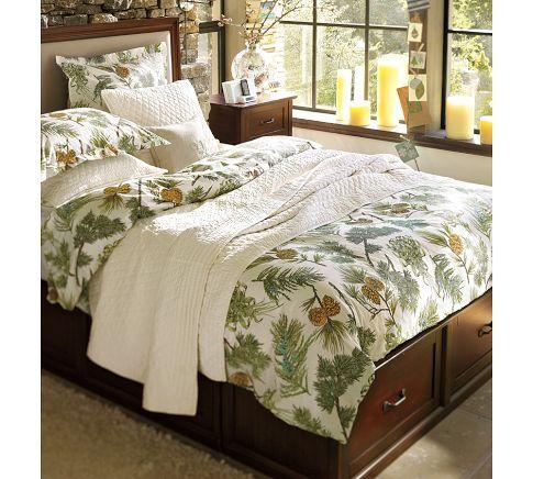 Stratton Storage Bed W Drawers Mattress Set K Ck Mahogany With Pottery Barn